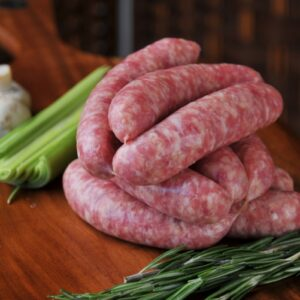 Our own make low fat pork links.